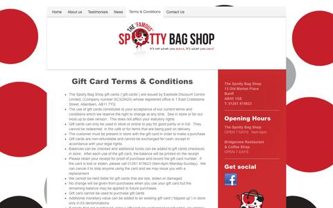 Screenshot of Terms Page thespottybagshop.co.uk - The Spotty Bag Shop - Terms & Conditions - captured Nov. 17, 2017