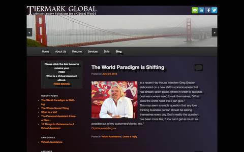 Screenshot of Blog tiermark.biz - Blog   Tiermark   Administrative assistance for a global world - captured Oct. 6, 2014