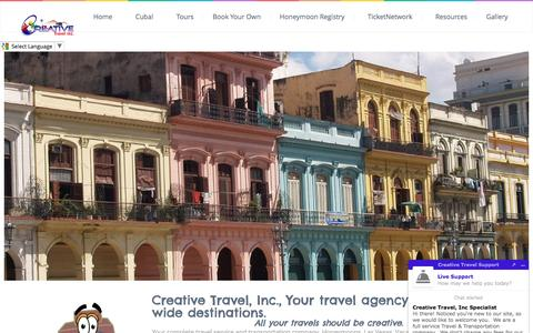 Screenshot of Home Page creativetravelinc.com - Creative Travel, Inc | Shouldn't all your vacations be Creative. - captured May 22, 2017