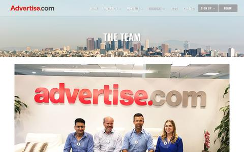 Screenshot of Team Page advertise.com - Our Team - Advertise.com - captured Sept. 21, 2018