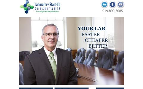 Screenshot of Home Page laboratorystartupconsultants.com - Lab Consultants | Toxicology & Molecular Laboratory Startup Experts - captured Dec. 6, 2015
