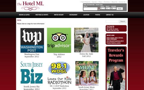 Screenshot of Press Page thehotelml.com - Press | The Hotel ML - captured Oct. 29, 2014