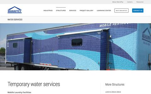 Screenshot of mahaffeyusa.com - Water Services - captured March 20, 2016
