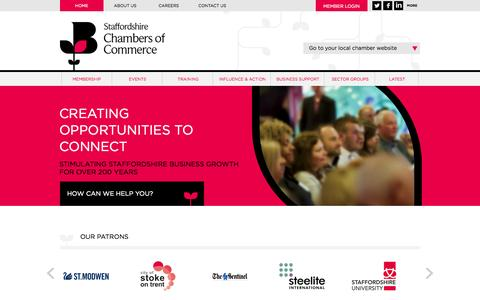 Screenshot of Site Map Page futurefinest.org.uk - Staffordshire Chambers of Commerce - Growing Business - captured Sept. 30, 2014