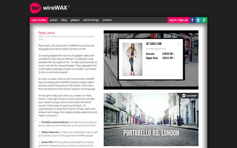 Screenshot of Case Studies Page wirewax.com - wireWAX - interactive video tool - captured Sept. 17, 2014
