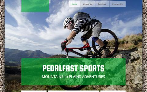 Screenshot of Home Page pedalfastsports.com - Home - captured May 15, 2017