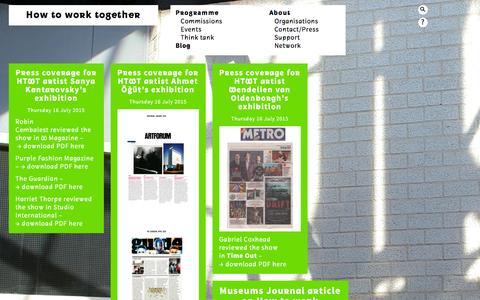 Screenshot of Blog howtoworktogether.org - Blog  —  How to work together - captured May 4, 2016