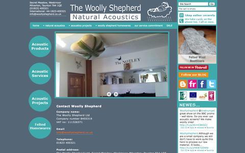 Screenshot of Contact Page woollyshepherd.co.uk - Contact Us - captured Oct. 7, 2014