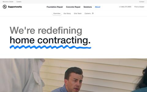 Screenshot of About Page supportworks.com - The Supportworks Network   Foundation Repair Experts - captured Nov. 7, 2019
