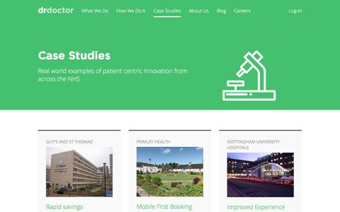 Screenshot of Case Studies Page drdoctor.co.uk - Case Studies – DrDoctor - captured May 9, 2017