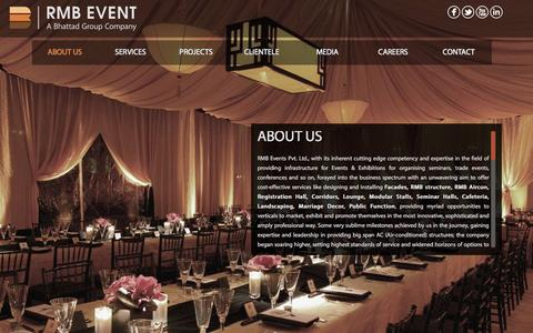Screenshot of Home Page About Page rmbevent.com - Welcome to Bhattad Group - captured March 5, 2016