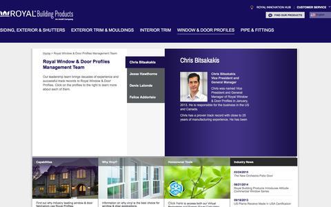 Screenshot of Team Page royalbuildingproducts.com - Royal Window & Door Profiles Management Team | Royal Building Products - captured Jan. 23, 2016