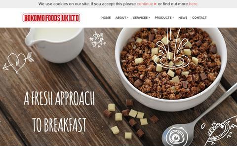Screenshot of Home Page bokomo.co.uk - UK's leading cereal maker | Bokomo - captured Oct. 12, 2015
