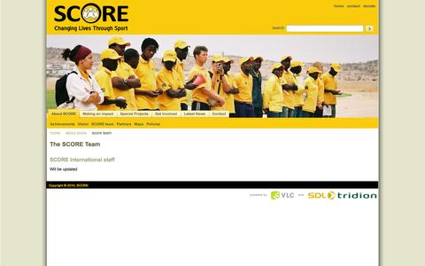Screenshot of Team Page score.org.za - SCORE | The SCORE Team - captured Oct. 27, 2014