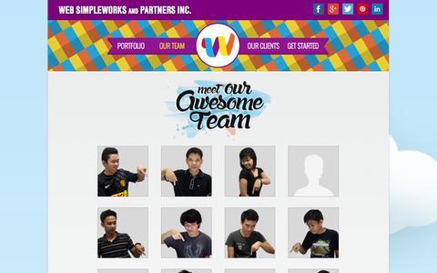 Screenshot of Team Page websimpleworks.com - Our Team :: Web Simpleworks Portfolio - captured Nov. 5, 2014