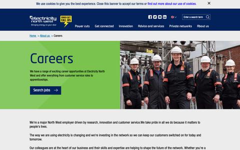 Screenshot of Jobs Page enwl.co.uk - Careers - captured Sept. 27, 2018