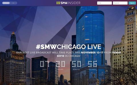 Screenshot of Signup Page socialmediaweek.org - Discover - SMW Insider - captured Nov. 5, 2017