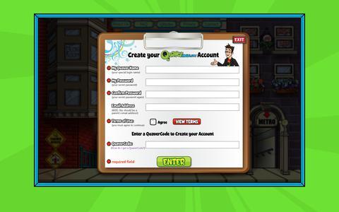 Screenshot of Signup Page quavermusic.com captured Sept. 30, 2018