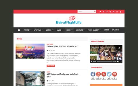 Screenshot of Press Page beirutnightlife.com - News Archives - BNL - captured June 27, 2017