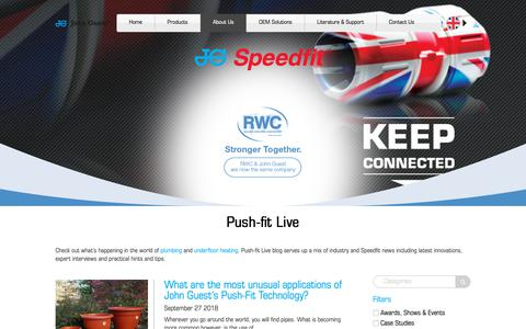Screenshot of Blog johnguest.com - Blog: Plumbing & Heating | How to | John Guest Speedfit - captured Oct. 14, 2018