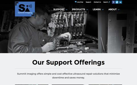 Screenshot of Services Page mysummitimaging.com - Services | Summit Imaging - captured Oct. 26, 2014