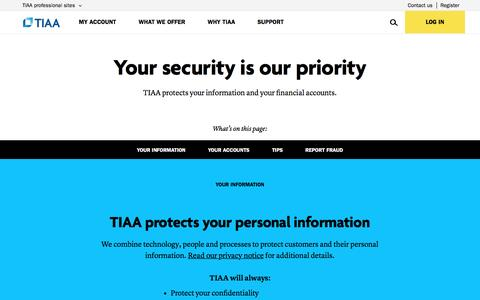 Your Security Is Our Priority | TIAA