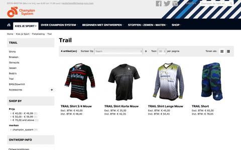 Screenshot of Trial Page champ-sysnederland.nl - Trail - Fietskleding - Kies je Sport - captured Feb. 20, 2017