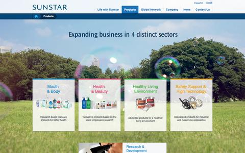 Screenshot of Products Page sunstar.com - Products | Sunstar Global Website - captured Sept. 24, 2014