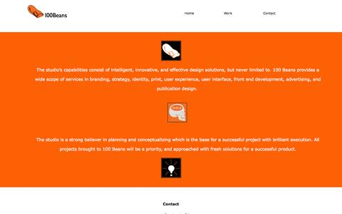 Screenshot of Contact Page 100beans.com - 100 Beans - captured Oct. 27, 2014