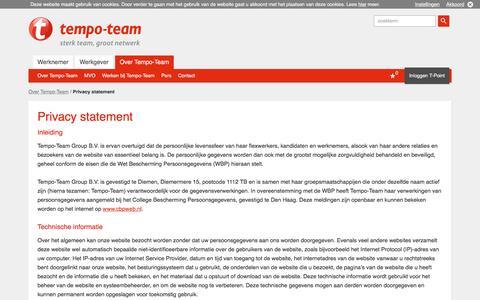Privacy Statement - Tempo-Team