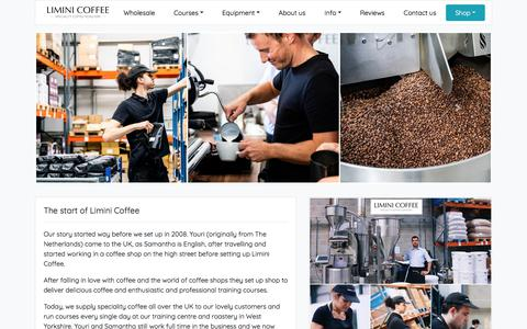 Screenshot of About Page liminicoffee.co.uk - About us - Limini Coffee - captured Nov. 14, 2019