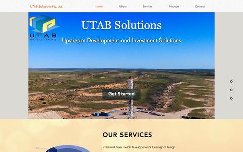 Screenshot of Home Page utab-solutions.com - UTAB Solutions   E&P Developmet and Investment   JUIA   Australia - captured Oct. 18, 2018