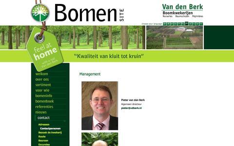 Screenshot of Team Page vdberk.nl - Van den Berk Boomkwekerijen   Management - captured May 28, 2016