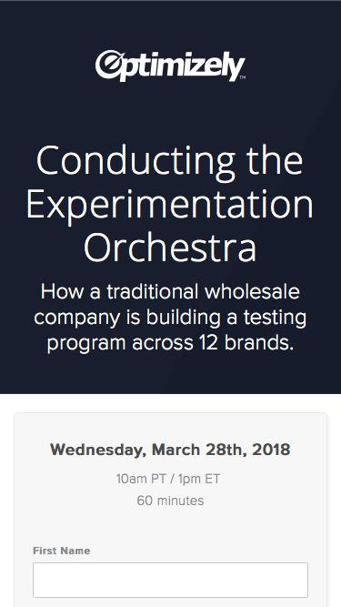 Conducting the Experimentation Orchestra