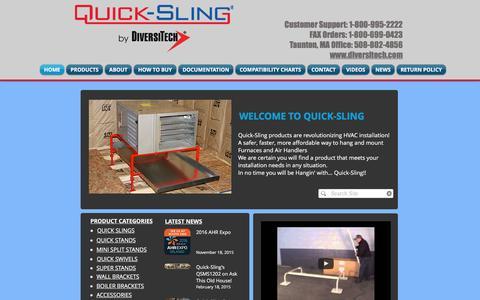 Screenshot of Home Page quick-sling.com - Quick-Sling LLC - captured Jan. 28, 2017
