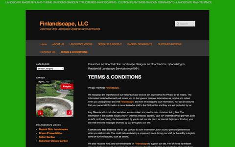 Screenshot of Terms Page finlandscape.com - TERMS & CONDITIONS | Finlandscape, LLCFinlandscape, LLC - captured Oct. 6, 2014