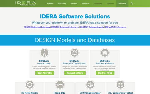 Screenshot of Products Page idera.com - Comprehensive IT and Database Management Tools | IDERA - captured Jan. 17, 2019