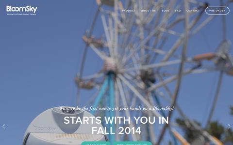 Screenshot of Home Page bloomsky.com - BloomSky - captured Sept. 23, 2014