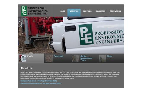 Screenshot of About Page pe-engrs.com - Professional Environmental Engineers | About Us - captured Oct. 3, 2014