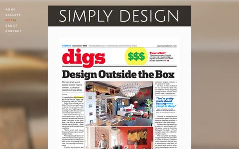 Screenshot of Press Page simply-design.biz - Media — Simply Design - captured Oct. 4, 2014