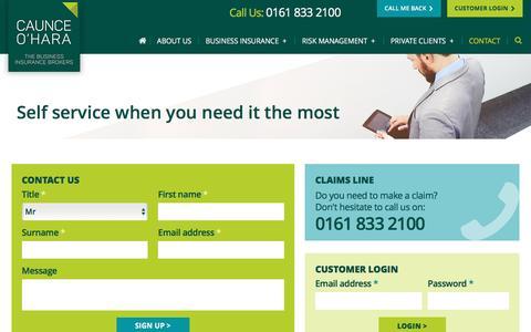 Screenshot of Contact Page caunceohara.co.uk - Contact - Caunce O Hara - captured May 15, 2017