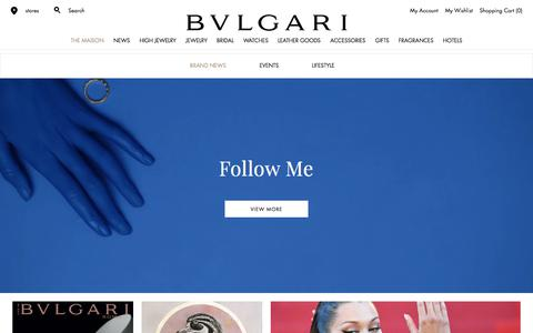 Screenshot of Press Page bulgari.com - Official Online Magazine           | Bulgari - captured June 3, 2017