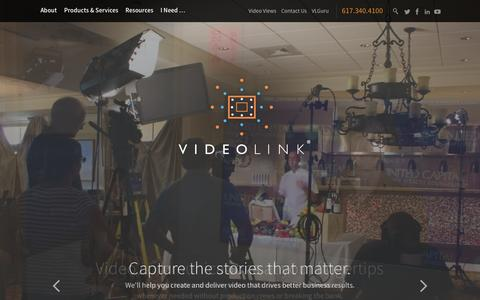 Screenshot of Home Page videolinktv.com - Your customer experience starts with video - VideoLink - captured Feb. 14, 2016