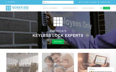 Screenshot of Home Page gokeyless.com - GoKeyless says… - captured Nov. 6, 2018