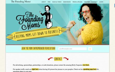 Screenshot of Contact Page foundingmoms.com - Contact | The Founding Moms | Mom Entrepreneurs - captured Nov. 30, 2016