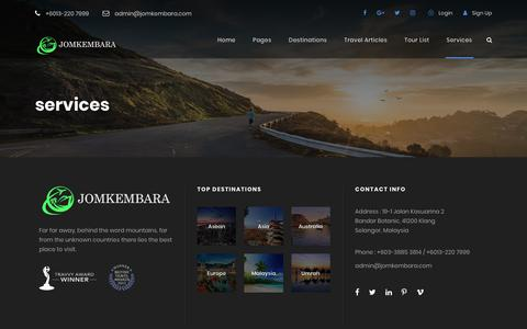 Screenshot of Services Page jomkembara.com - services – Jomkembara - captured Oct. 14, 2018