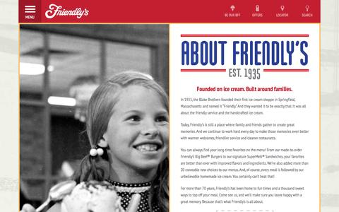 Screenshot of About Page friendlys.com - About Friendly's | Friendly's - captured Sept. 24, 2014