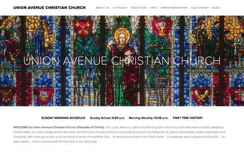Screenshot of Home Page union-avenue.org - UNION AVENUE CHRISTIAN CHURCH - captured June 14, 2016