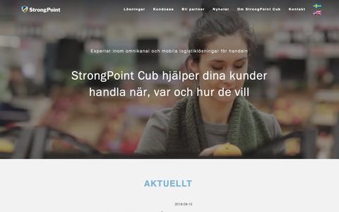 Screenshot of Home Page cub.se - StrongPoint Cub | Experter inom omni och mobila lösningar - captured Sept. 30, 2018