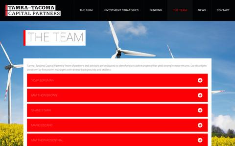 Screenshot of Team Page tamratacoma.com - Tamra-Tacoma Capital Partners | The Team - captured Sept. 12, 2014